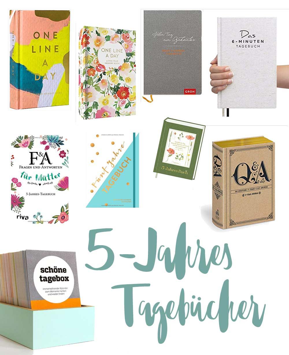 5-Jahres-Bücher - schöne Geschenkidee - One line a day Bücher - Tagebücher ein Satz am Tag