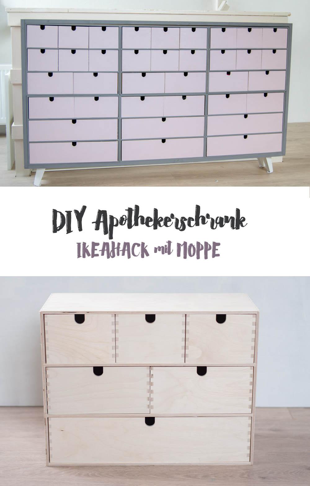 IKEAhack Apothekerschrank aus Moppe