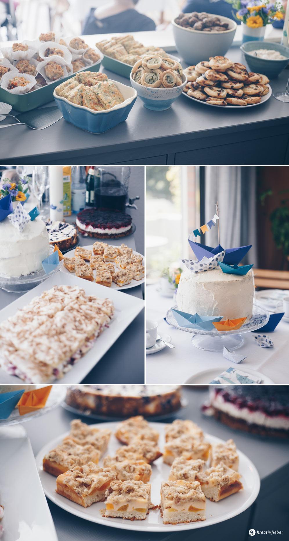 Carrot Cake Tauftorte selbermachen - 5 Tipps für eine entspannte Vorbereitung einer Tauffeier - Kuchenbuffet für 20 Personen planen