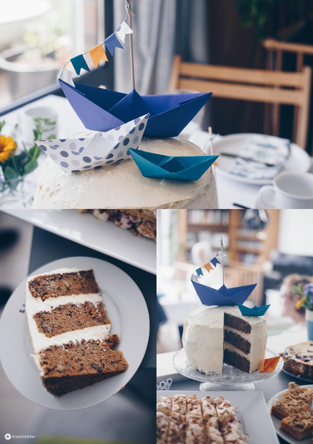 Carrot Cake Tauftorte selbermachen und Kuchenbuffet zur Taufe planen - 5 Tipps für eine entspannte Vorbereitung einer Tauffeier