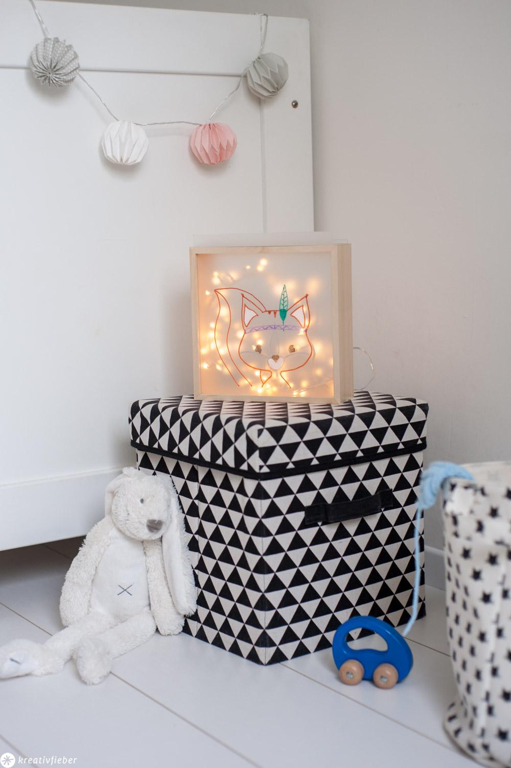 DIY Wickellampe Leuchtkasten für Kinder