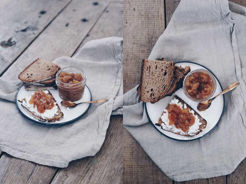 Birnen Chutney mit Ingwer - Rezept - lecker als Aufstrich Burgersoße oder zur Käseplatte
