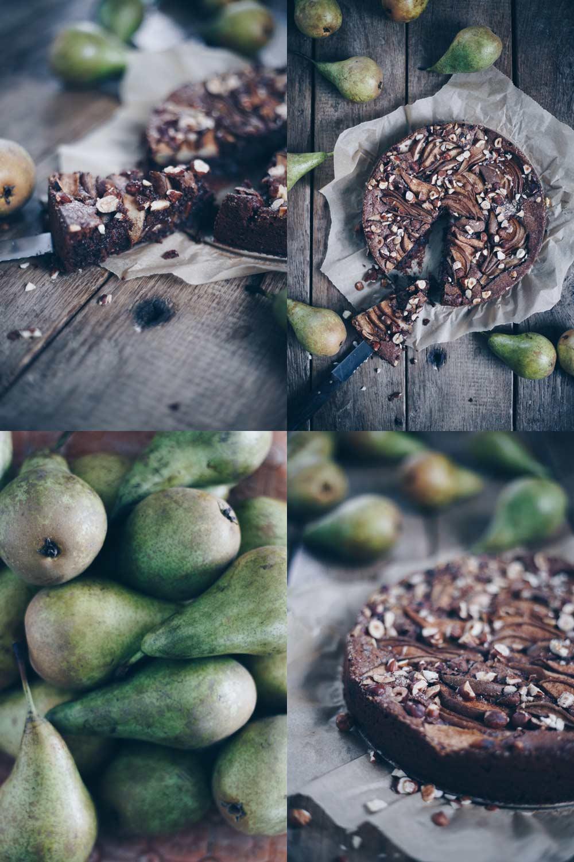 Glutenfreier Schokonusskuchen mit Birnen - Rezeptideen mit Birnen