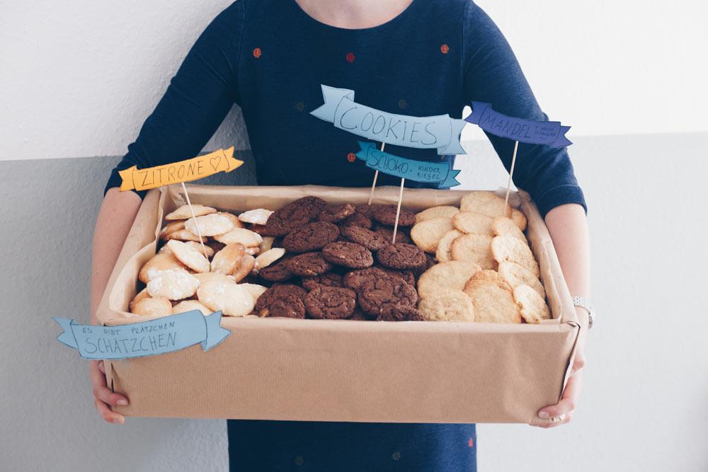 Keksbuffett zum Sektempfang - Cookies zur Hochzeit selbermachen oder verschenken - Idee für Fingerfood zum Sektempfang