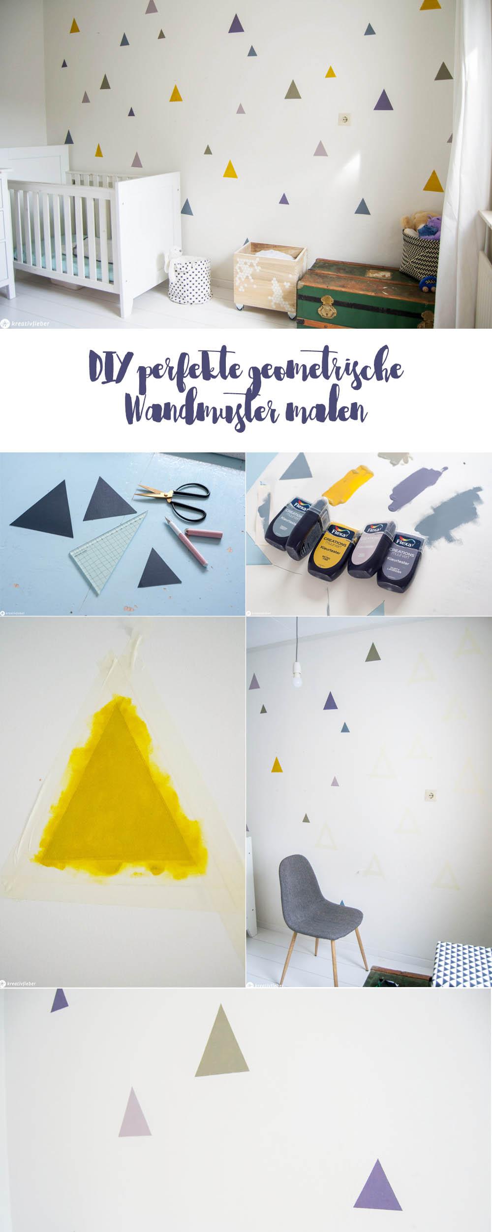 Dreiecke im Kinderzimmer malen