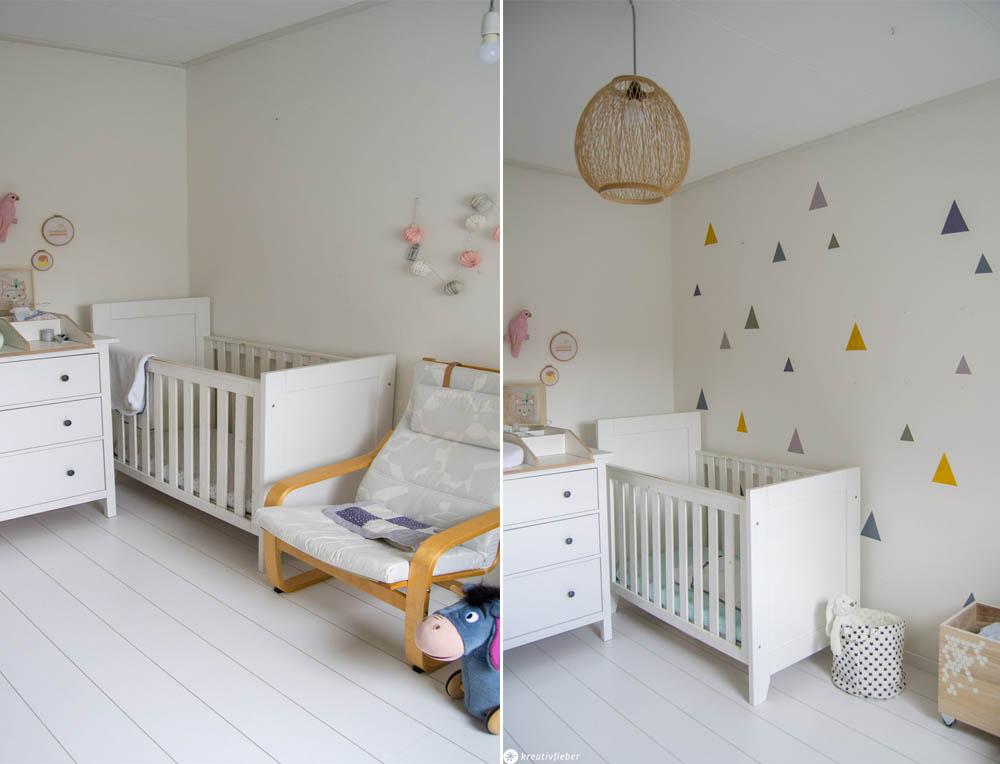 Kinderzimmer Wand Dreiecke