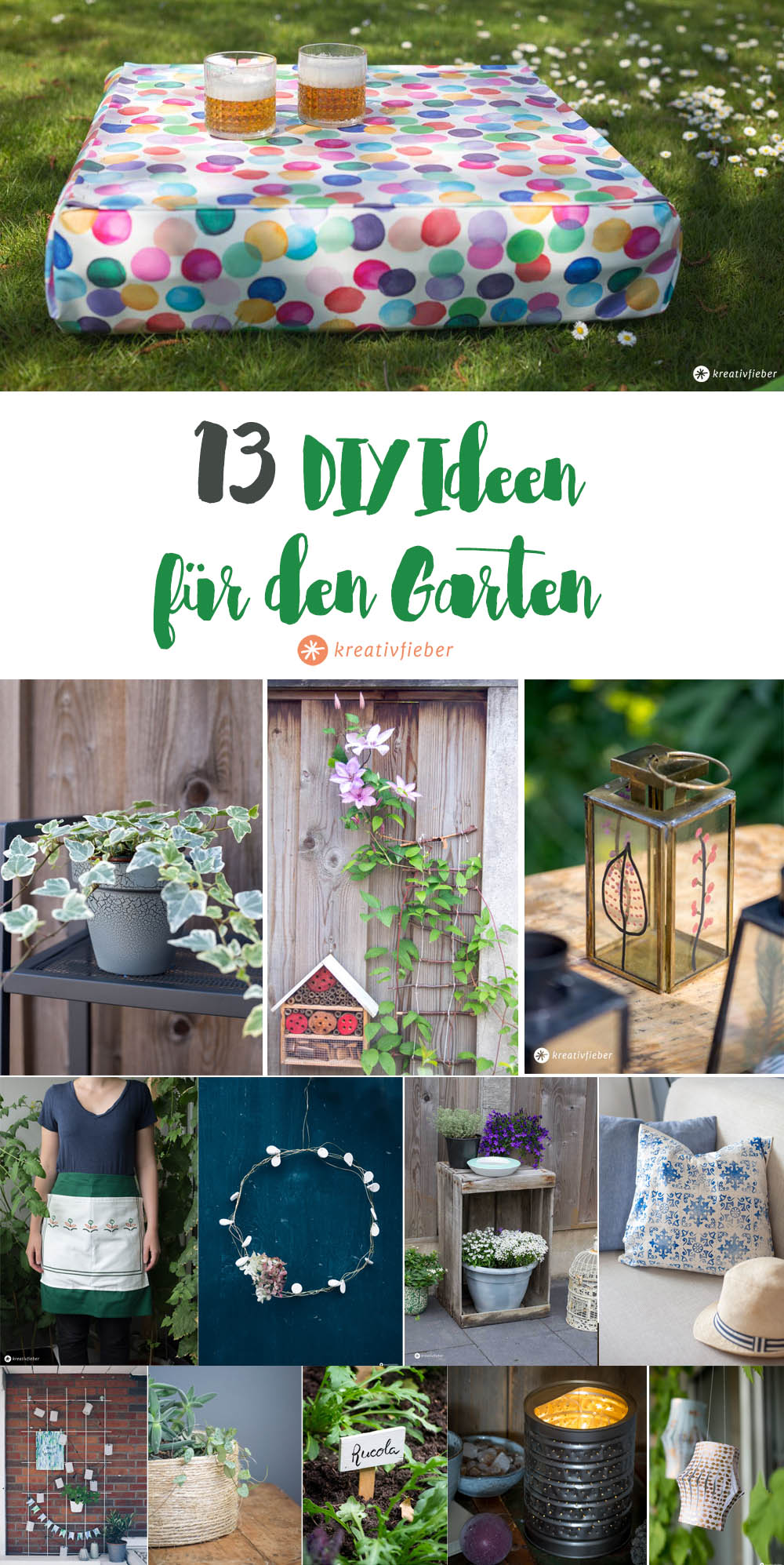 13 diy ideen f r den garten. Black Bedroom Furniture Sets. Home Design Ideas