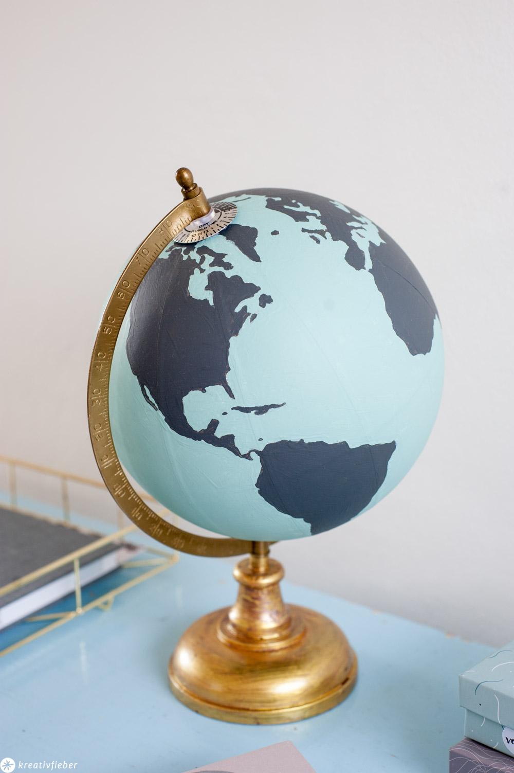 Geschenkidee Globus bemalen