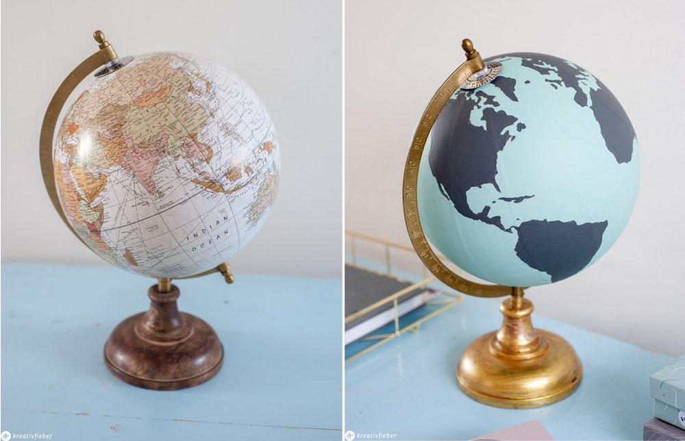 Globus bemalt