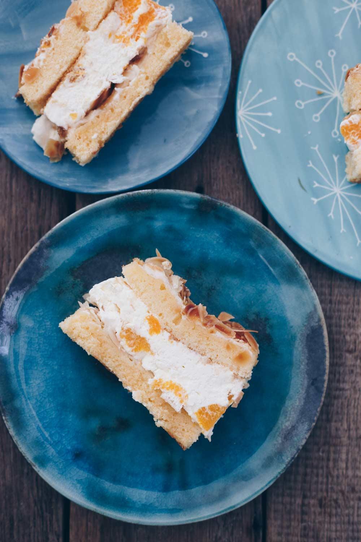 Mandarinen-Baiser-Torte backen - Tortenrezept mit Baiserschicht und Mandarinen