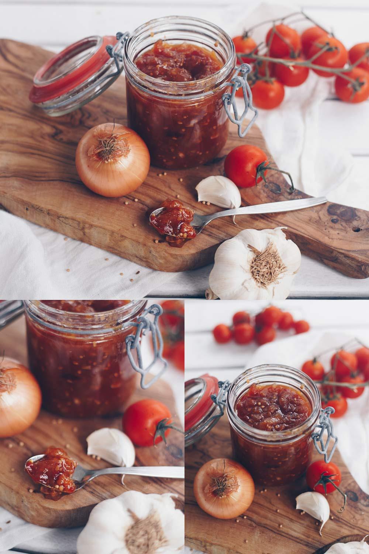 Aprikosen-Tomaten-Chutney Rezept - lecker auf Burgern und Co. - einfach selbermachen