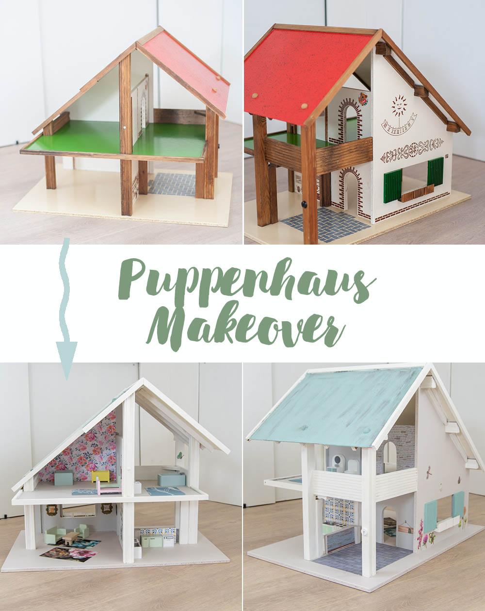 Geschenkidee für Kinder Puppenhaus neu dekorieren und anmalen