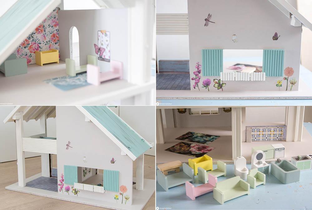 Puppenhaus neu lackiert Einrichtungsideen