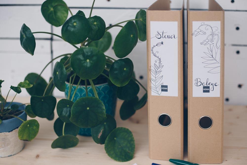 DIY Ordnerrücken verschönern mit Pilot FriXion Ball Stiften