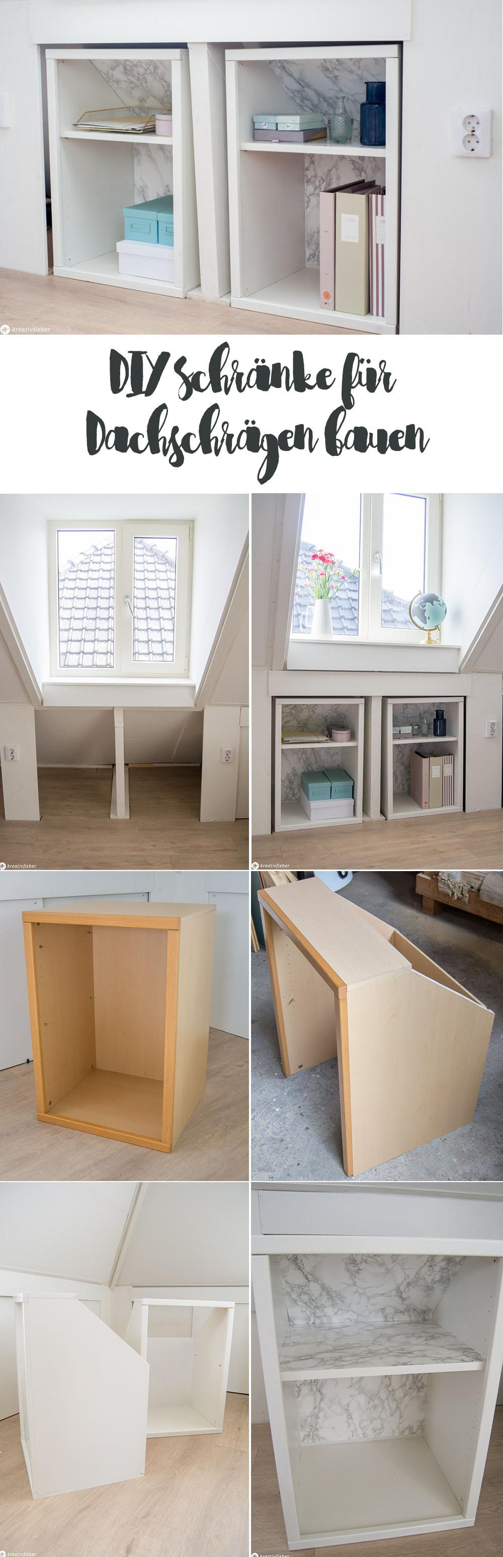 Anleitung Schrank für Dachschräge bauen