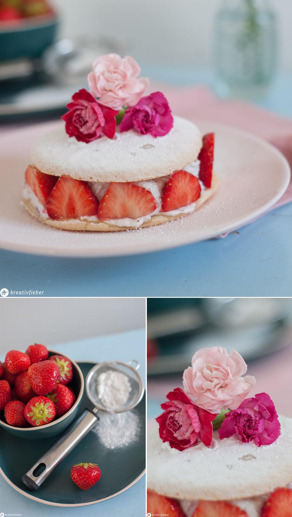 Törtchen mit Erdbeeren