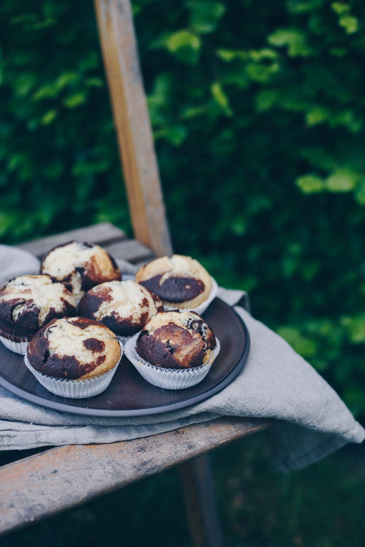 Marmormuffins backen - einfaches Rezept