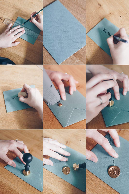 Siegel auf Hochzeitseinladungen Schritt für Schritt - Anleitung zum Anbringen