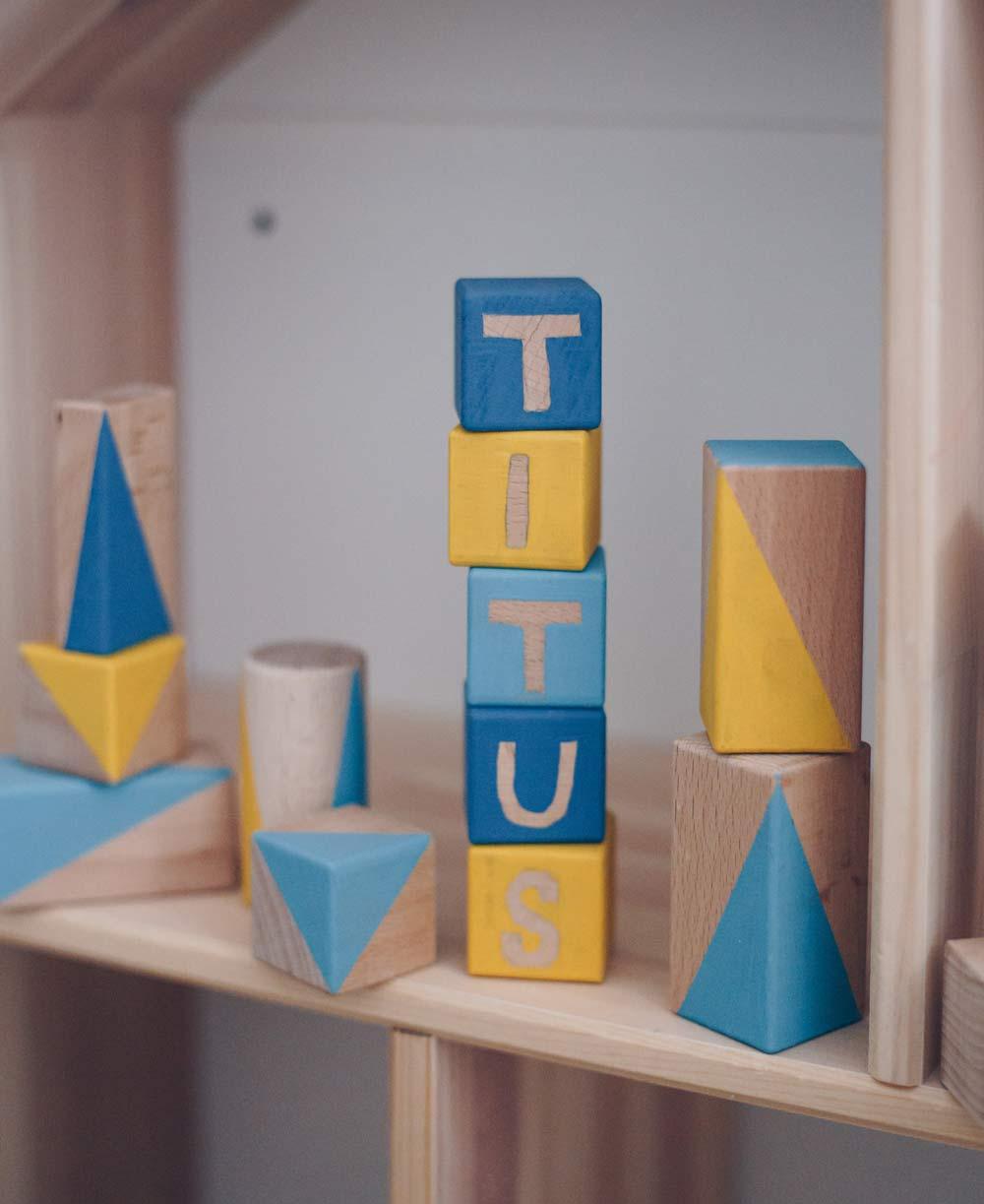 DIY Bauklötze Set mit Namen selbermachen - Geschenkidee zur Geburt