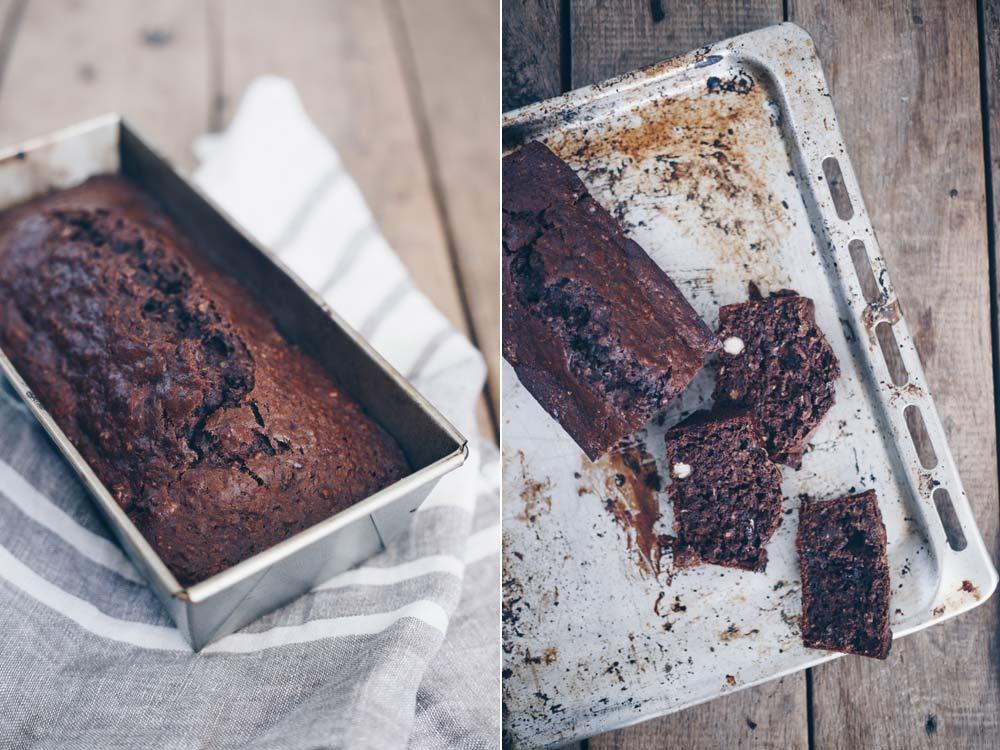 Schokoladen-Bananenbrot backen - einfaches Rezept für einen Kastenkuchen