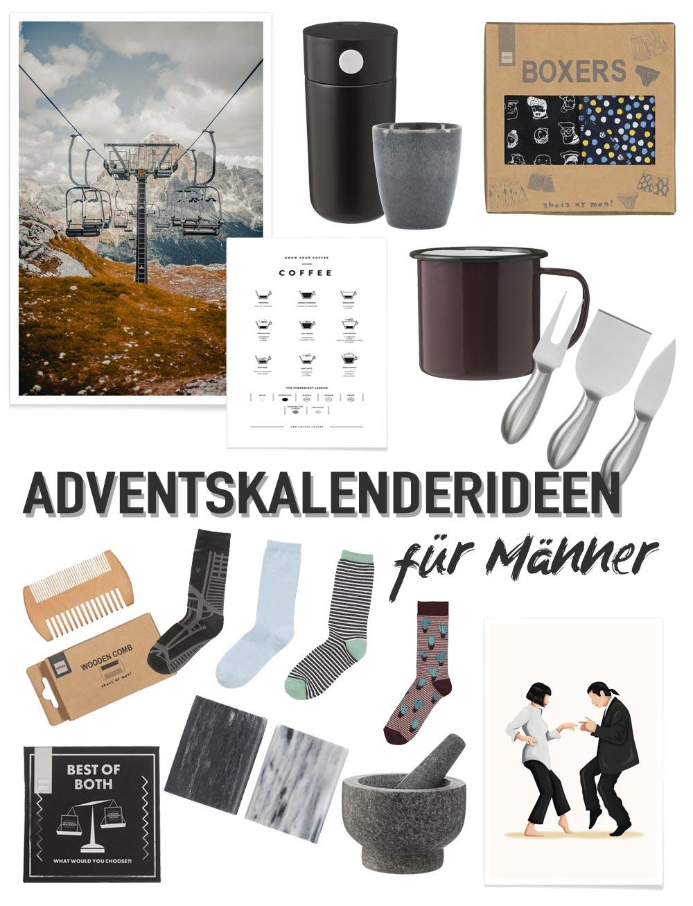 Adventskalenderideen für Männer - viele kleine Ideen für die Adventskalenderfüllung