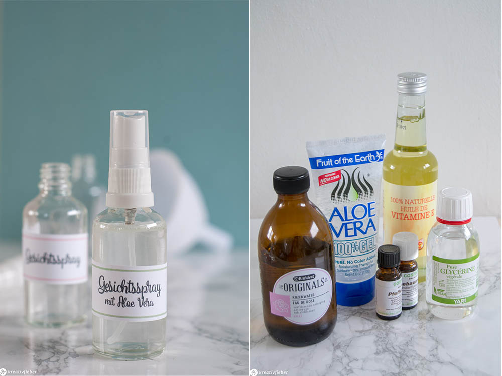DIY Kosmetik herstellen Beauty Face Mist Spray fürs Gesicht