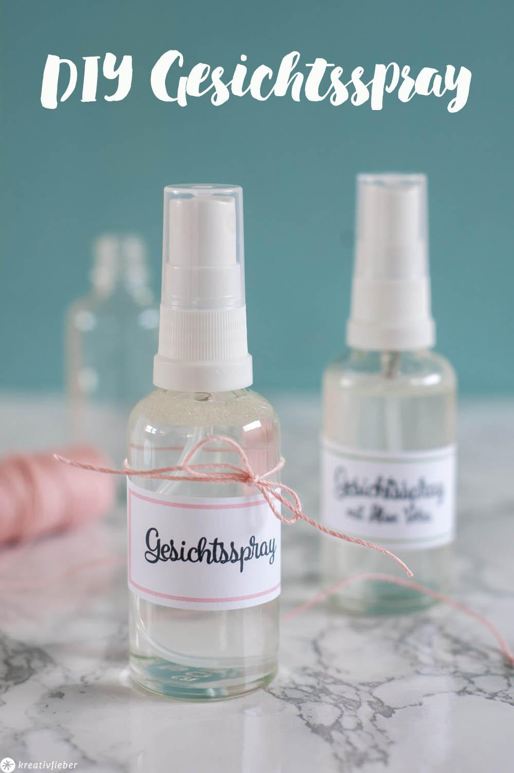 Face Mist DIY Gesichtsspray Gesichtswasser Kosmetik Selbermachen