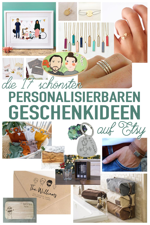 Die 17 schönsten personalisierbaren Geschenkideen auf Etsy . Schmuck, Familienportraits, Kinderzeichungen und Co.