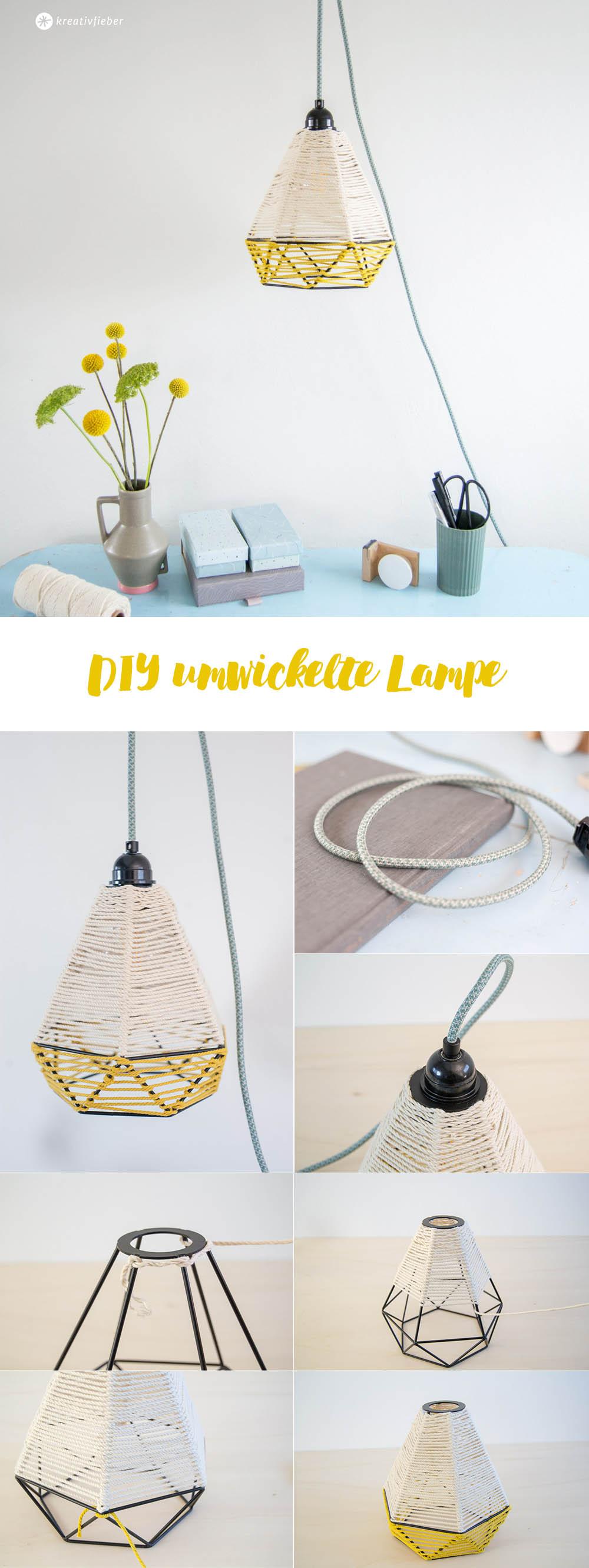 DIY Lampe bauen mit Kordel umwickeln