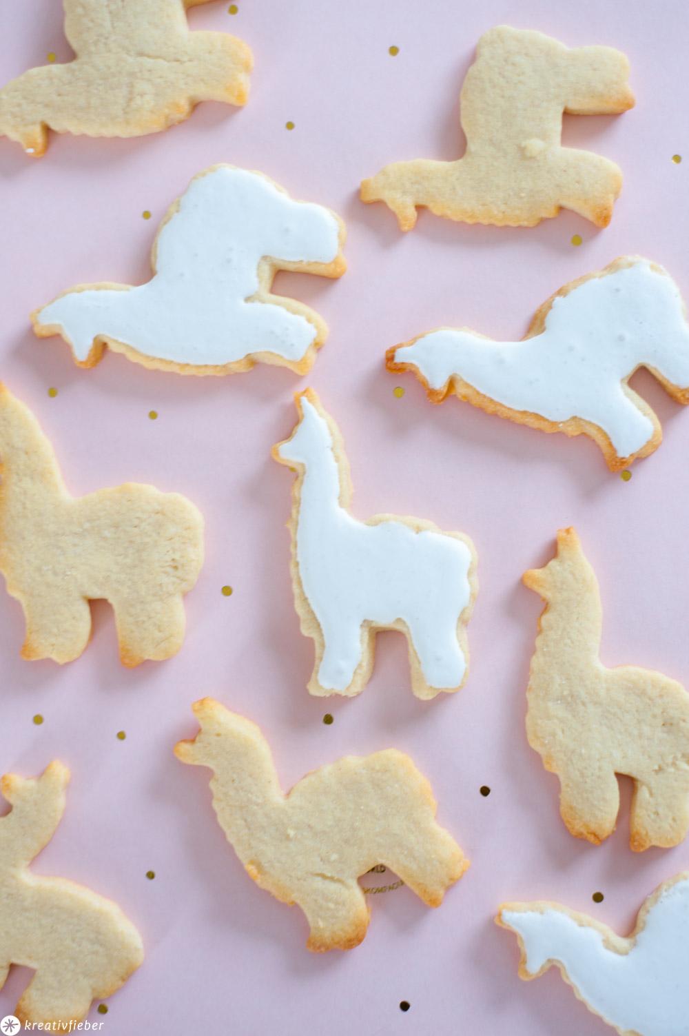 Lama Alpaka Kekse mit Royal Icing
