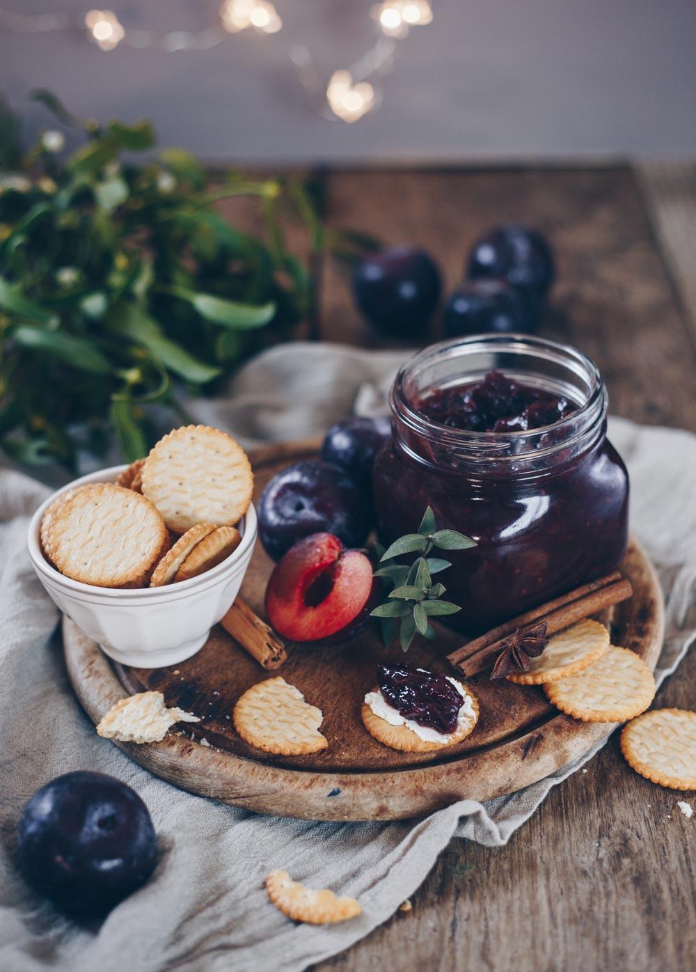 Pflaumen-Rotwein-Chutney Rezept - Geschenke aus der Küche selbermachen