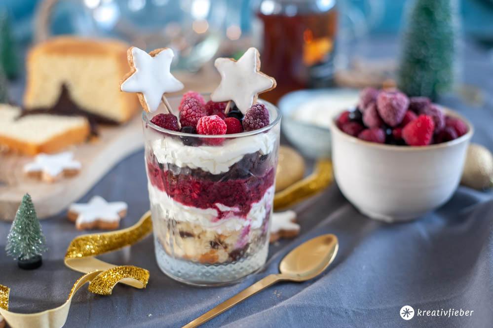Dessert Nachtisch zu Weihnachten aus Resten
