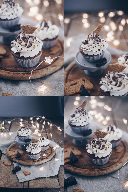 Spekulatius Cupcakes mit Zimtcreme backen - weihnachtlich Rezeptidee