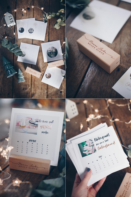 Tischkalender mit gravierten Holzständern - mit Verlosung für sendmoments