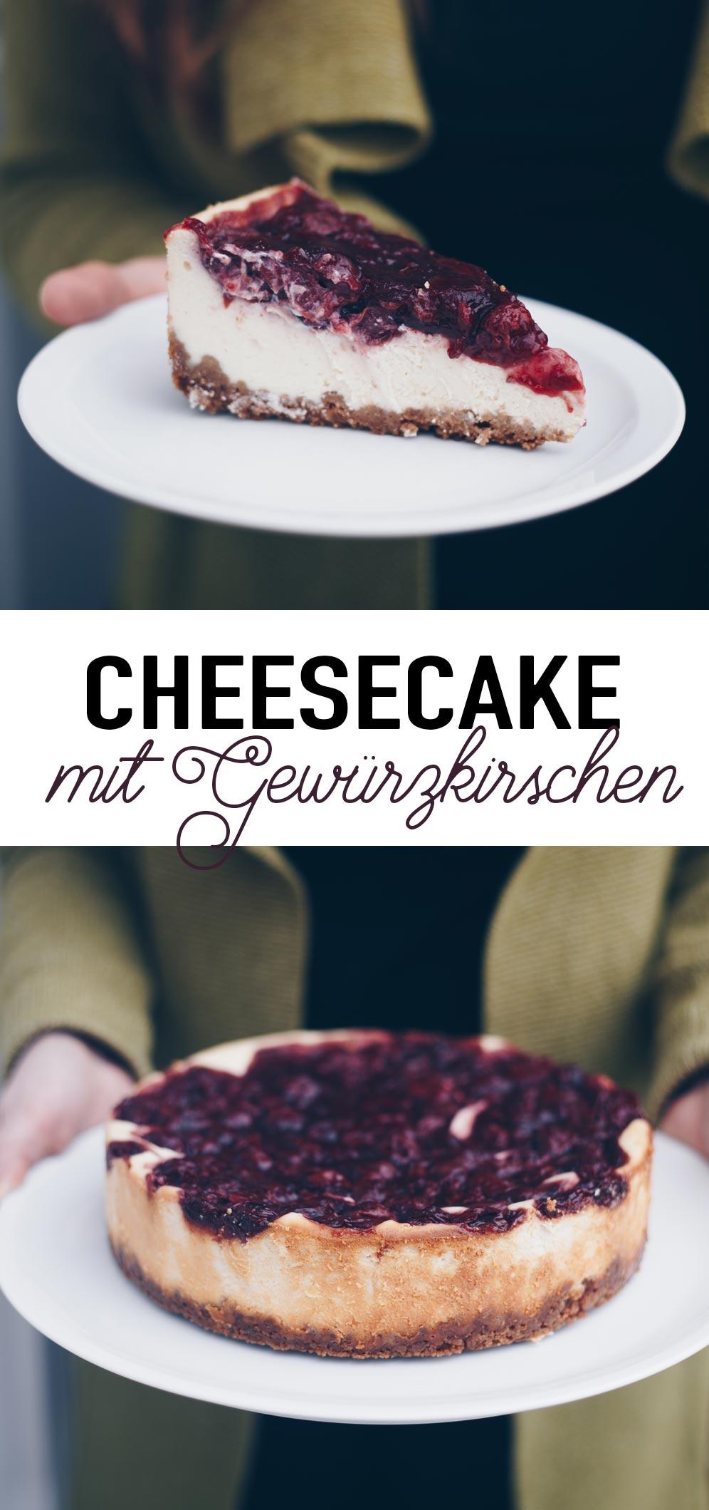 Cheesecake mit Gewürzkirschen - winterlichen Cheesecake backen