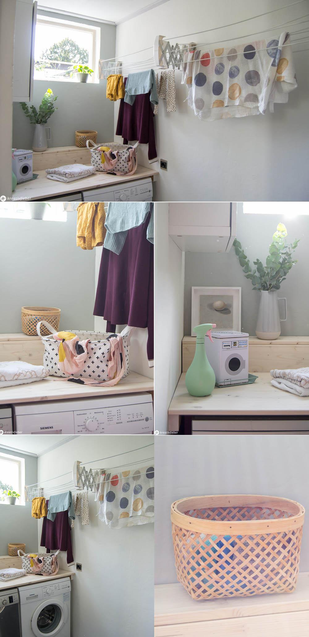 Waschraum Makeover Und Diy Waschmaschinentisch Kreativfieber