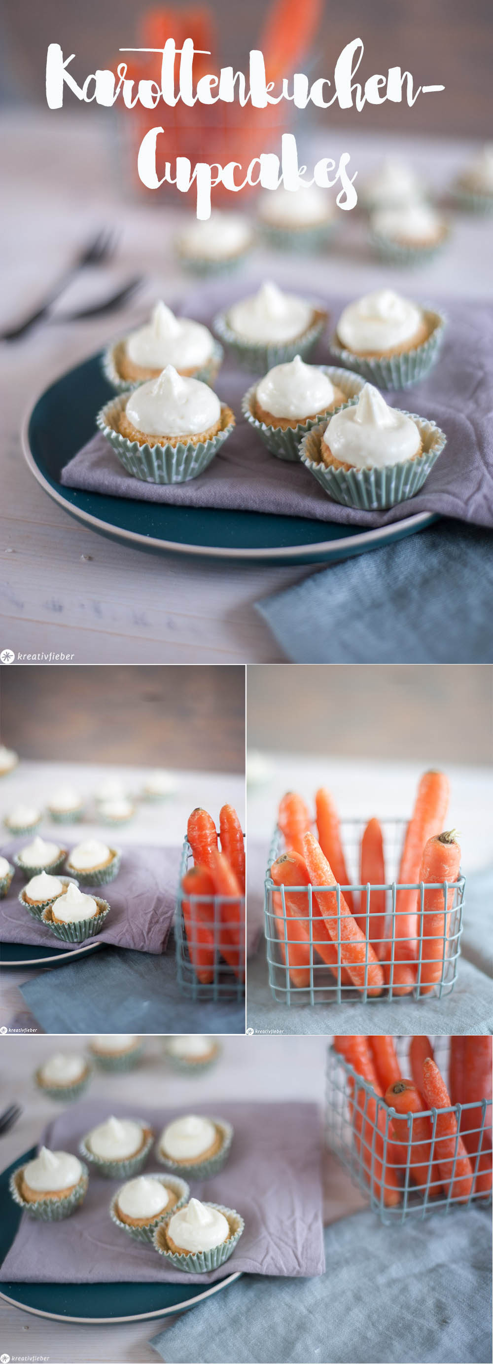 Karottenkuchen Cupcakes Rüblicupcakes Mini Möhrencupcakes