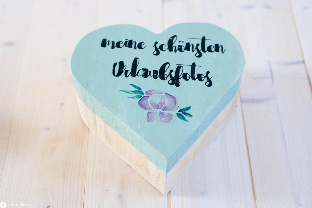 Schrift auf Holz transferieren Anleitung DIY Tutorial Hochzeitsgeschenke Urlaubsfotos Fotogeschenke