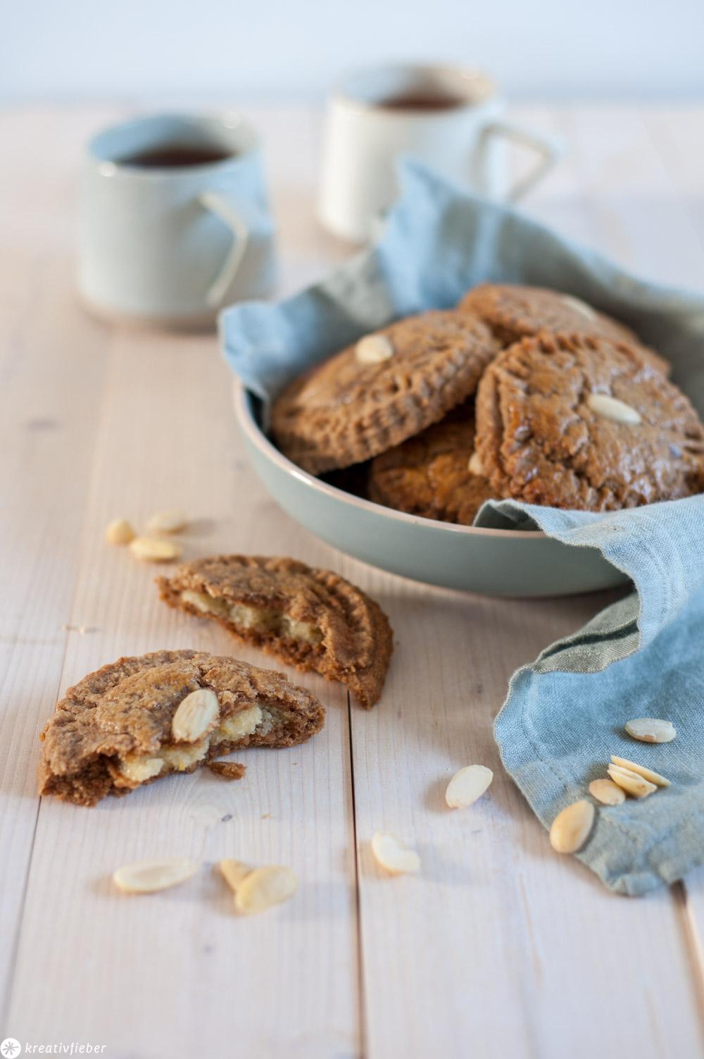Gevulde koek gefüllte Kekse Küchlein Rezept Niederlande Holland