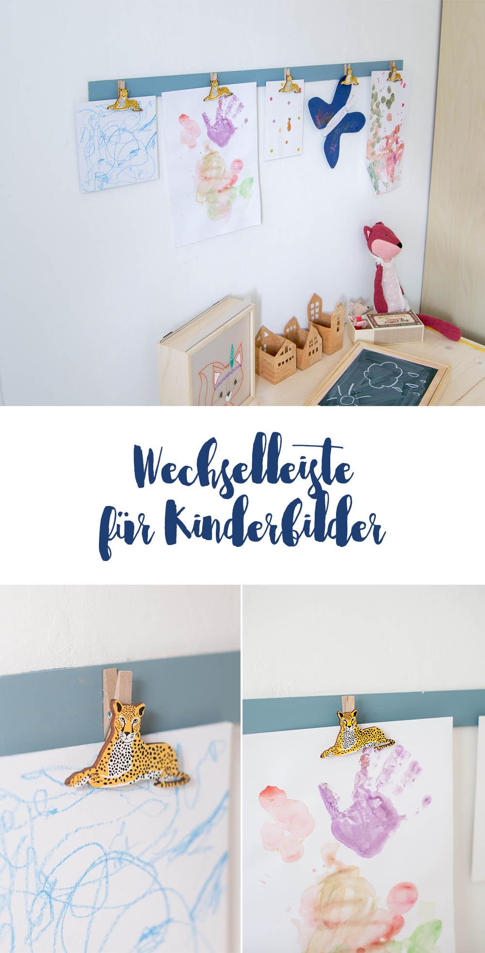 DIY Idee Bilderleiste fürs Kinderzimmer