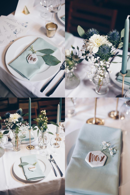 DIY Hexagon Tischkärtchen aus Marmor für Hochzeiten - DIY Hochzeitsinspiration
