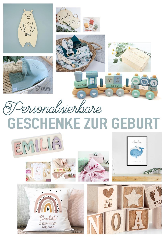 Personalisierte Geschenke zur Geburt – Babygeschenke mit Namen