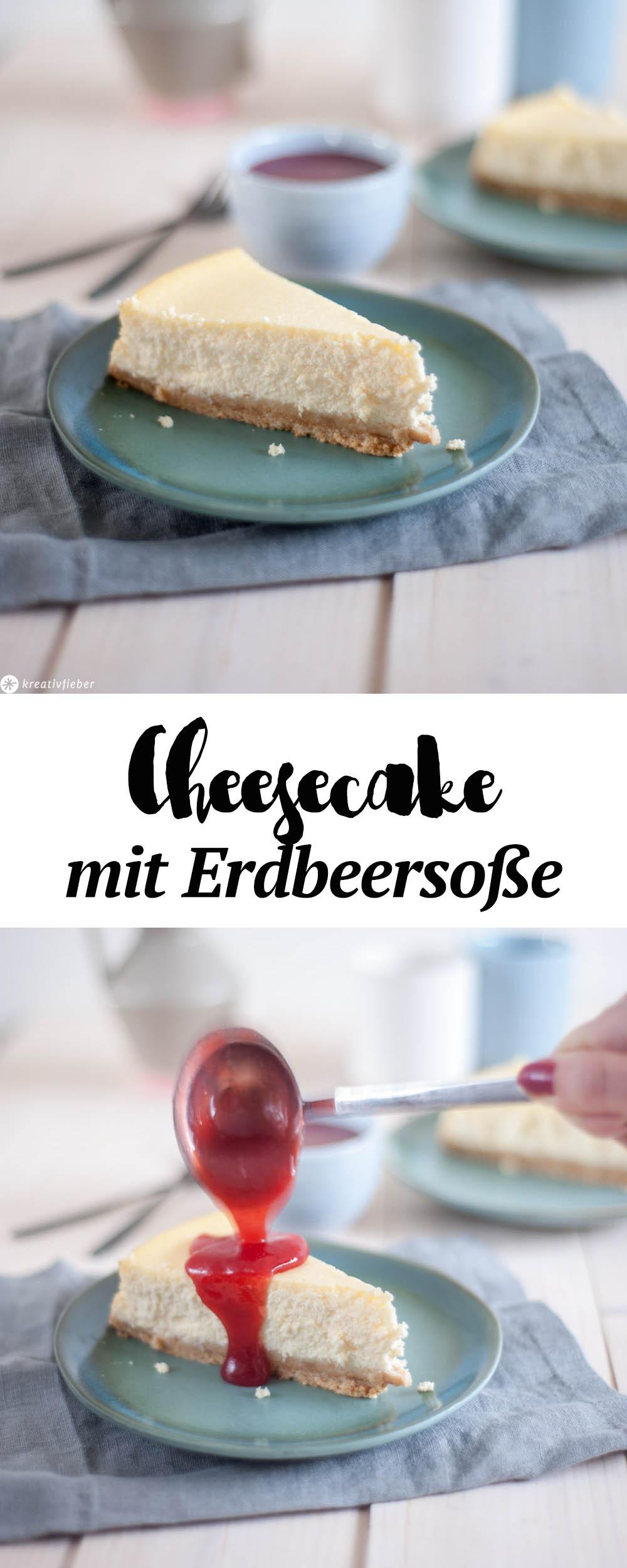 Rezept Cheesecake mit Erdbeersoße