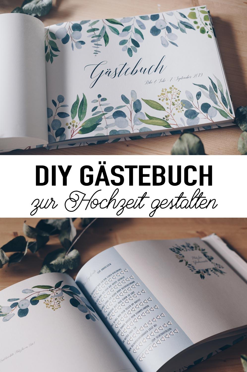 DIY Gästebuch zur Hochzeit gestalten