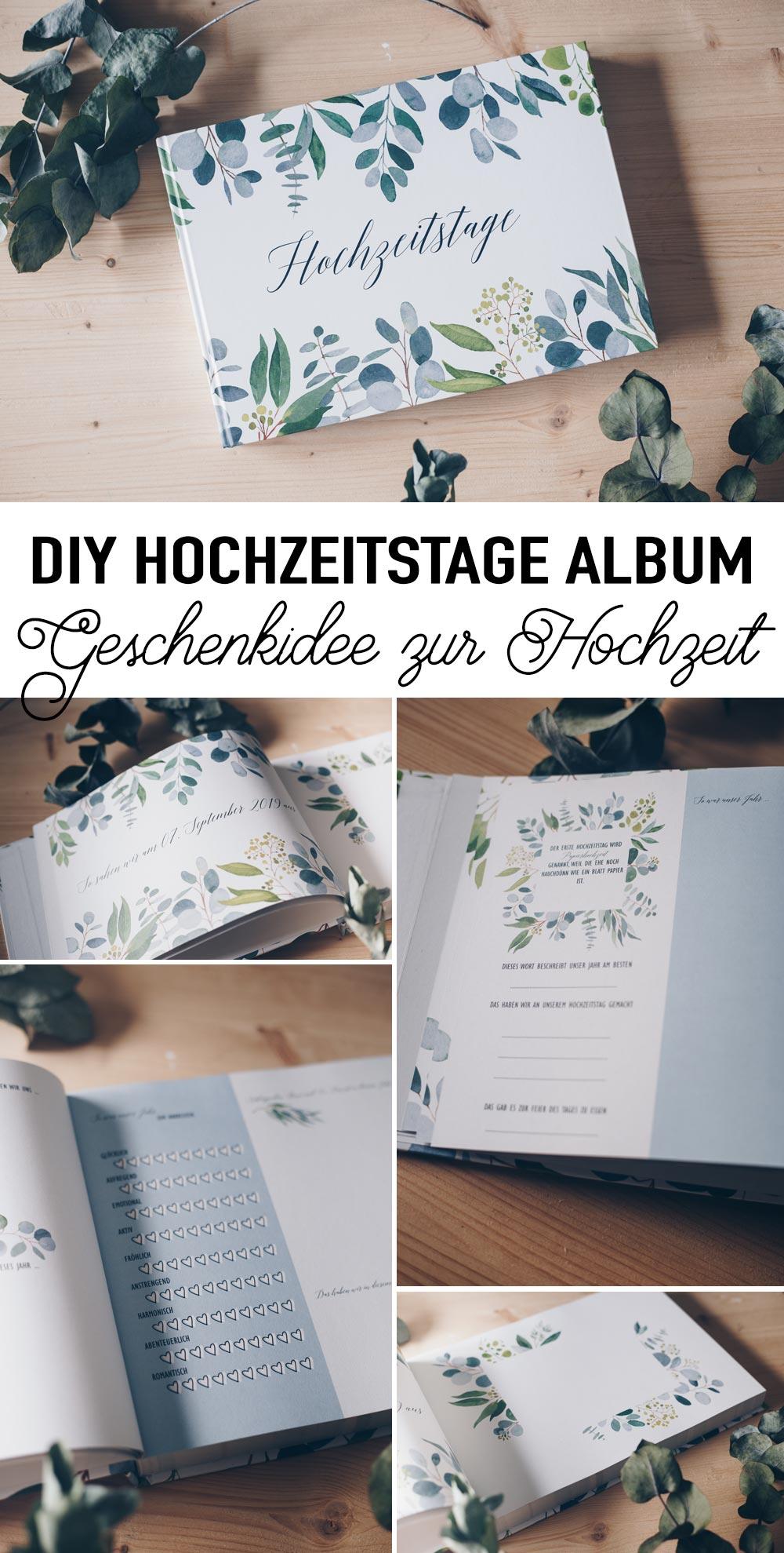 DIY Hochzeitstage Album gestalten - persönliche Geschenkidee zur Hochzeit