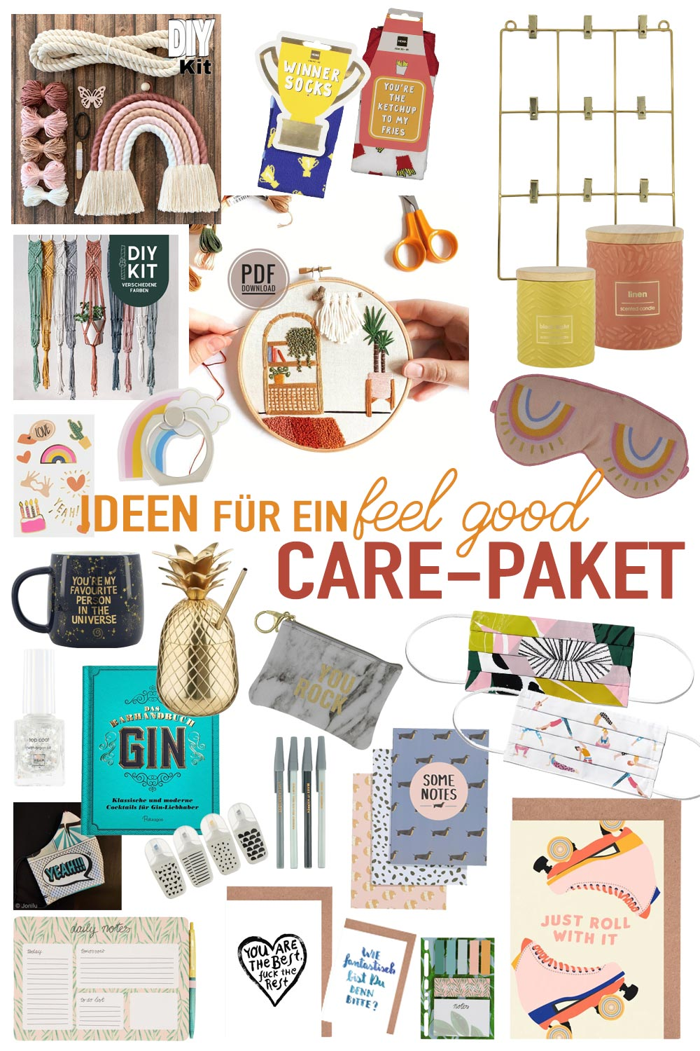 Ideen für ein feel good Care-Paket