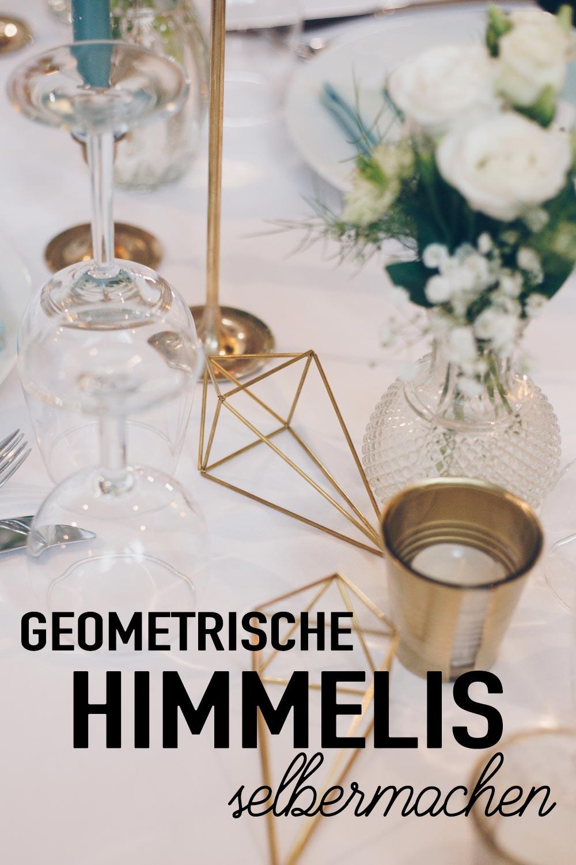 DIY geometrische goldene Himmelis selbermachen als DIY Hochzeitsdeko