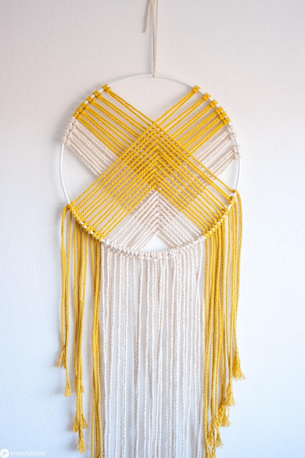 Wallhanging Makramee mit Ring