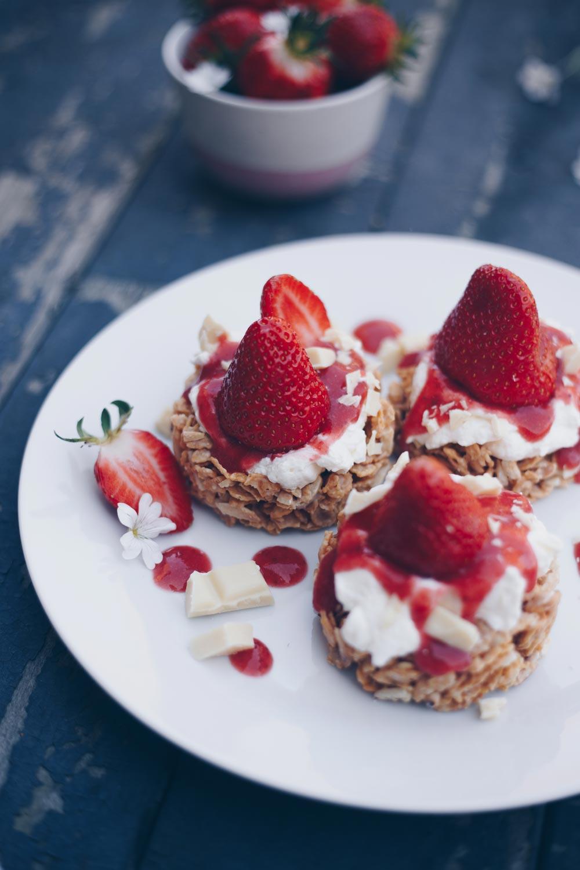 Erdbeer Crossie Törtchen ohne backen