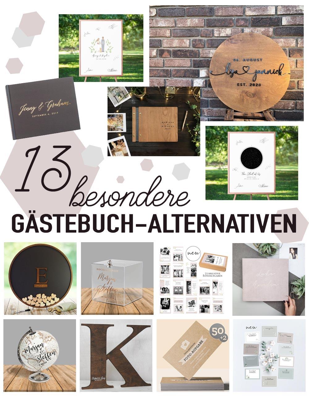 13 besondere Gästebuch Ideen zur Hochzeit - Alternatives Gästebuch zur Hochzeit